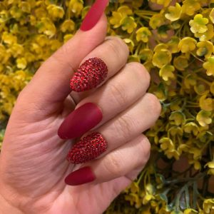 Glamscape 5 Minute Press on Nails in Bangladesh - Nails with Glue - Crimson Bling