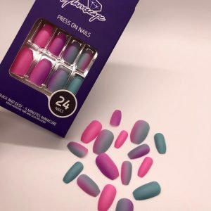 Glamscape 5 Minute Press on Nails in Bangladesh - Nails with Glue - Sunset Kiss