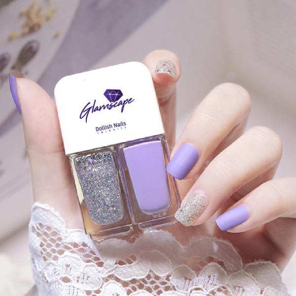 Glamscape Nail Polish In Bangladesh - Twin Nail Polish - Dollish Polish - Twinnies - Purple Sparkle