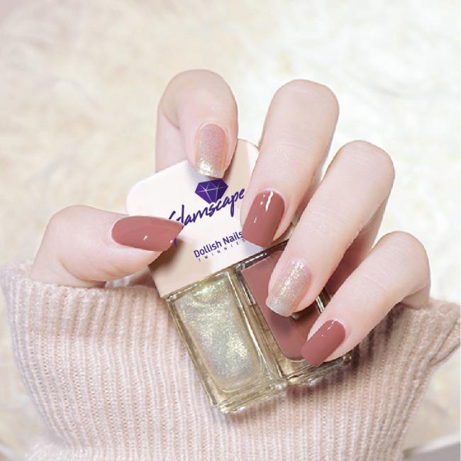 Glamscape Nail Polish In Bangladesh - Twin Nail Polish - Dollish Polish - Twinnies - Shimmer & Nude
